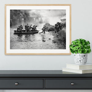 British troops training Framed Print - Canvas Art Rocks - 3