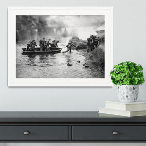 British troops training Framed Print - Canvas Art Rocks - 5