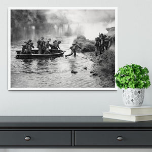 British troops training Framed Print - Canvas Art Rocks -6