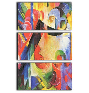 Broken Forms by Franz Marc 3 Split Panel Canvas Print - Canvas Art Rocks - 1