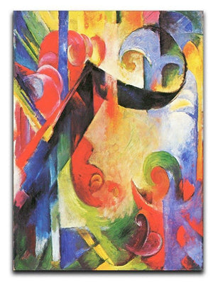 Broken Forms by Franz Marc Canvas Print or Poster  - Canvas Art Rocks - 1