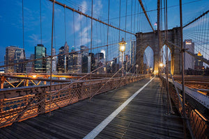 Brooklyn Bridge at sunrise Wall Mural Wallpaper - Canvas Art Rocks - 1