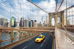 Brooklyn Bridge in New York City Wall Mural Wallpaper - Canvas Art Rocks - 1