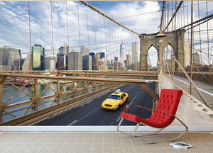 Brooklyn Bridge in New York City Wall Mural Wallpaper - Canvas Art Rocks - 2
