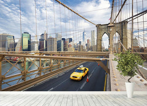 Brooklyn Bridge in New York City Wall Mural Wallpaper - Canvas Art Rocks - 4