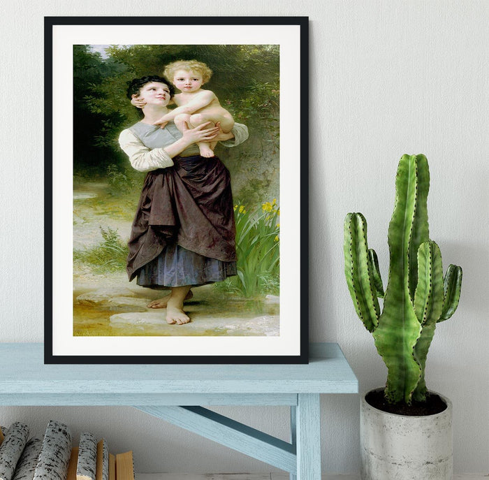 Brother And Sister By Bouguereau Framed Print