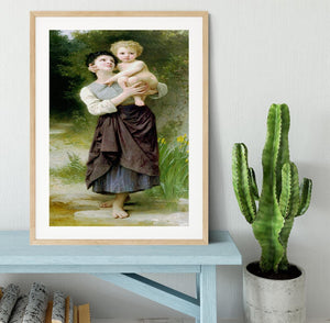 Brother And Sister By Bouguereau Framed Print - Canvas Art Rocks - 3
