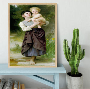 Brother And Sister By Bouguereau Framed Print - Canvas Art Rocks - 4