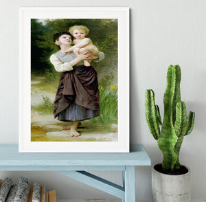 Brother And Sister By Bouguereau Framed Print - Canvas Art Rocks - 5
