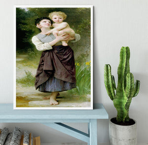 Brother And Sister By Bouguereau Framed Print - Canvas Art Rocks -6