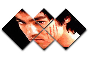 Bruce Lee 4 Square Multi Panel Canvas  - Canvas Art Rocks - 1
