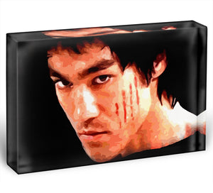 Bruce Lee Acrylic Block - Canvas Art Rocks - 1