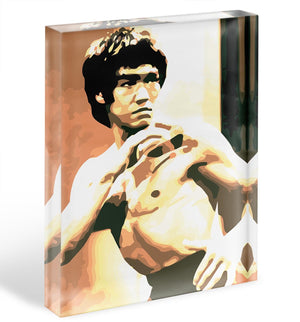 Bruce Lee Fight Stans Acrylic Block - Canvas Art Rocks - 1