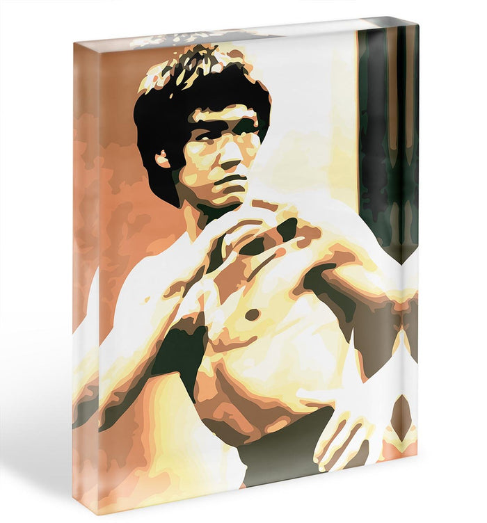 Bruce Lee Fight Stans Acrylic Block