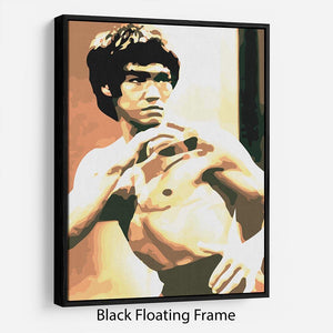 Bruce Lee Fight Stans Floating Frame Canvas
