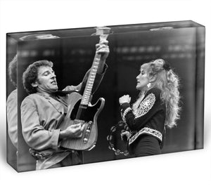 Bruce Springsteen and Patti Scialfa Acrylic Block - Canvas Art Rocks - 1