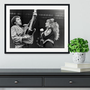 Bruce Springsteen and Patti Scialfa Framed Print - Canvas Art Rocks - 1