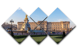 Buckingham palace in early winter morning 4 Square Multi Panel Canvas  - Canvas Art Rocks - 1
