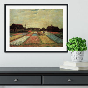 Bulb Fields by Van Gogh Framed Print - Canvas Art Rocks - 1