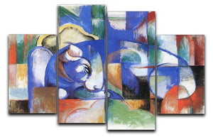 Bull by Franz Marc 4 Split Panel Canvas  - Canvas Art Rocks - 1