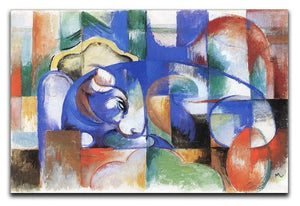Bull by Franz Marc Canvas Print or Poster  - Canvas Art Rocks - 1