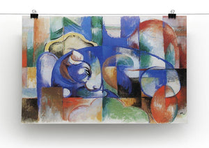 Bull by Franz Marc Canvas Print or Poster - Canvas Art Rocks - 2