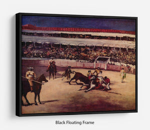 Bullfight by Manet Floating Frame Canvas