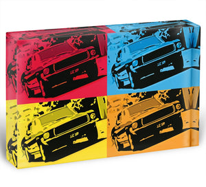 Bullitt Pop Art Acrylic Block - Canvas Art Rocks - 1