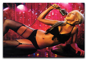 Christina Aguilera Burlesque Print - Canvas Art Rocks - 1