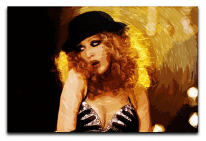 Close Up of Christina Aguilera from Burlesque Print - Canvas Art Rocks - 1