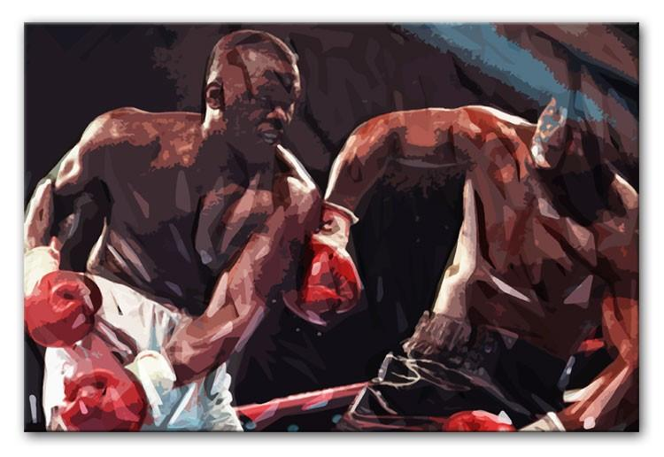 Buster Douglas v Mike Tyson Print - Canvas Art Rocks - 1