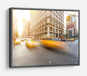 Busy road intersection in Manhattan HD Metal Print
