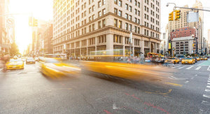 Busy road intersection in Manhattan Wall Mural Wallpaper - Canvas Art Rocks - 1