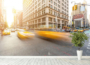 Busy road intersection in Manhattan Wall Mural Wallpaper - Canvas Art Rocks - 4