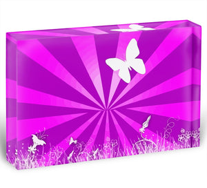 Butterfly Abstract Acrylic Block - Canvas Art Rocks - 1