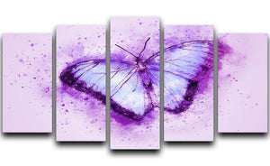 Butterfly Painting 5 Split Panel Canvas  - Canvas Art Rocks - 1