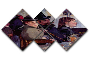 Cabaret in Reichshoffen by Manet 4 Square Multi Panel Canvas  - Canvas Art Rocks - 1