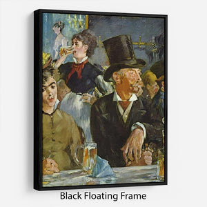 Cafe Concert by Manet Floating Frame Canvas