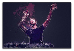 Calvin Harris Splatter Canvas Print or Poster  - Canvas Art Rocks - 1