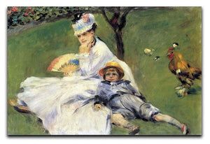 Camille Monet and her son Jean in the garden of Argenteuil by Renoir Canvas Print or Poster  - Canvas Art Rocks - 1