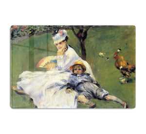 Camille Monet and her son Jean in the garden of Argenteuil by Renoir HD Metal Print