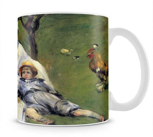 Camille Monet and her son Jean in the garden of Argenteuil by Renoir Mug - Canvas Art Rocks - 1