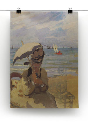 Camille Monet on the beach at Trouville by Monet Canvas Print & Poster - Canvas Art Rocks - 2