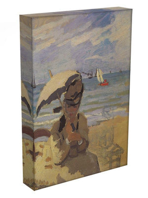 Camille Monet on the beach at Trouville by Monet Canvas Print & Poster - Canvas Art Rocks - 3
