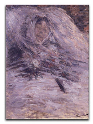 Camille Monet sur son lit de mort by Monet Canvas Print & Poster  - Canvas Art Rocks - 1