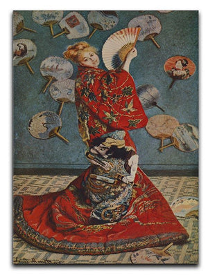Camille in Japanese dress by Monet Canvas Print & Poster  - Canvas Art Rocks - 1