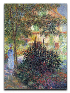 Camille in the garden of the house in Argenteuil by Monet Canvas Print & Poster  - Canvas Art Rocks - 1