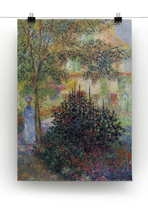 Camille in the garden of the house in Argenteuil by Monet Canvas Print & Poster - Canvas Art Rocks - 2