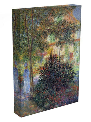 Camille in the garden of the house in Argenteuil by Monet Canvas Print & Poster - Canvas Art Rocks - 3