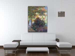 Camille in the garden of the house in Argenteuil by Monet Canvas Print & Poster - Canvas Art Rocks - 4